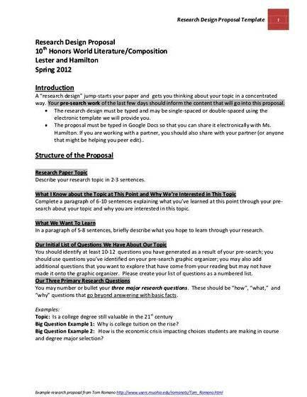 Proposal writing sample for thesis paper master thesis proposal