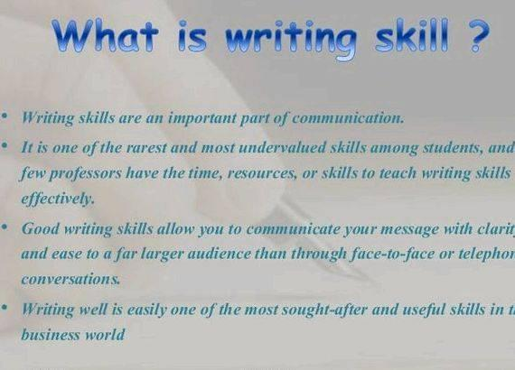 Reasons to revise your writing skills to work on