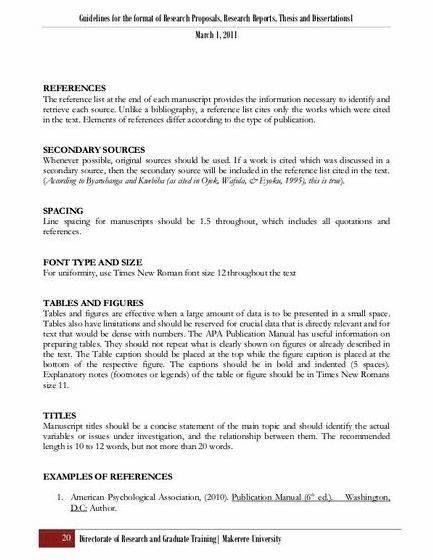 Reference web page thesis proposal the level of provided