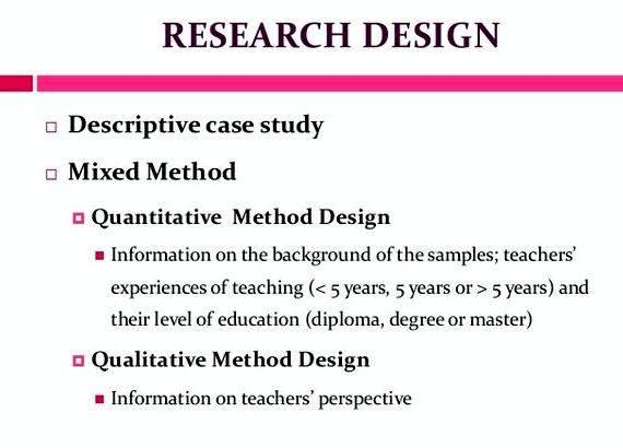 Research design sample thesis proposal research article or report