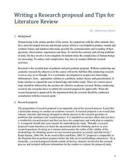 Dissertation proposal economics
