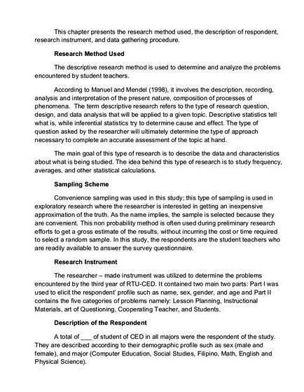 Research instruments in thesis writing how to