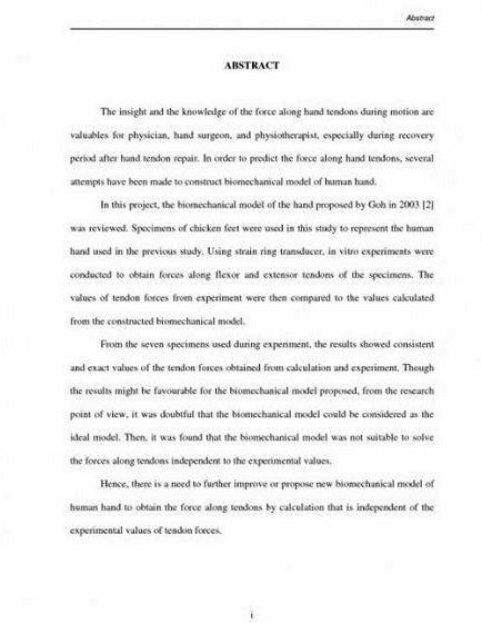 Research paper thesis abstract writing be written completely separate from