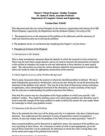 Dissertation proposal aims