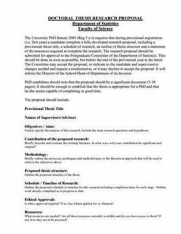 Research proposal for masters dissertation outline Your dissertation proposal should