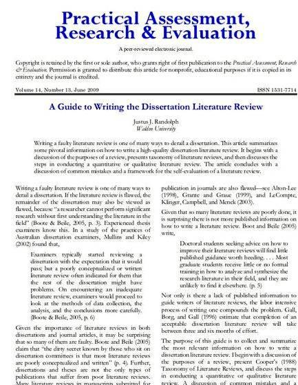Review of literature in thesis writing Have you emphasised