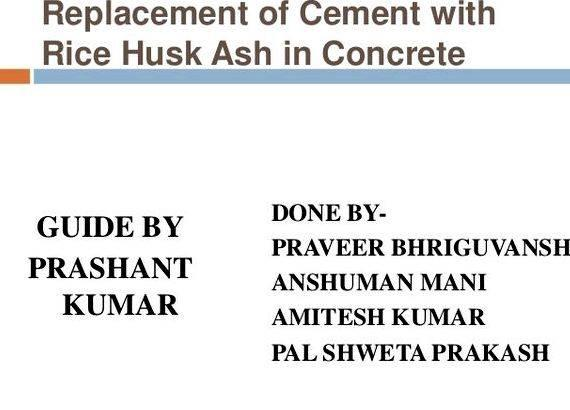 Rice husk ash concrete thesis writing of RHA is
