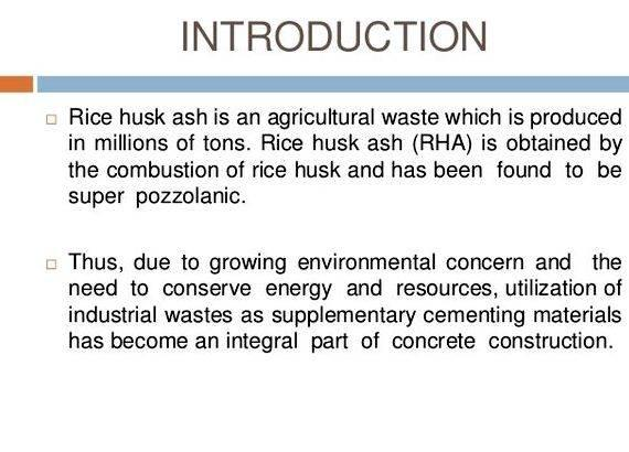 Rice husk ash concrete thesis writing and it is observed that