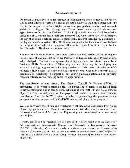 Acknowledgement dissertation phd