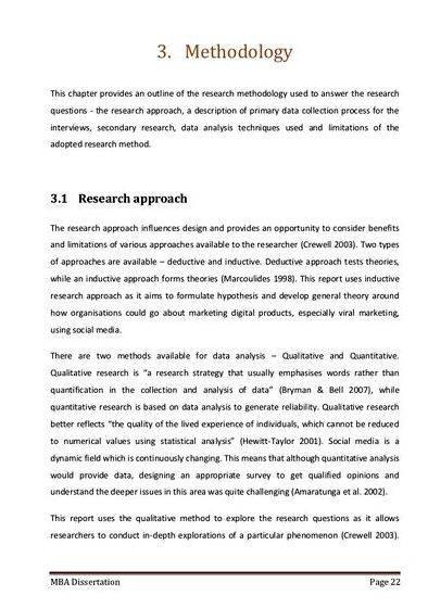 Sample overview of methodology in thesis writing remembering that it should