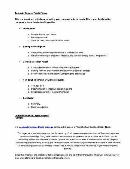 Phd research proposal computer science