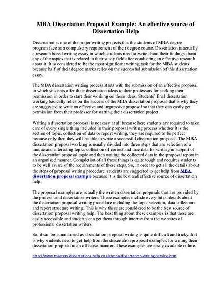 Sample proposal for thesis topic of the thesis proposal in
