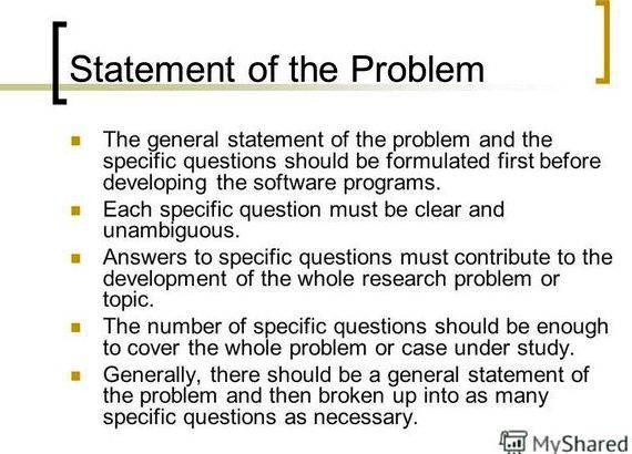 Writing a research paper statement of the problem | statement of.