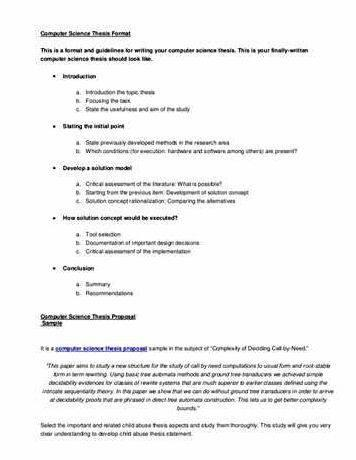 Thesis proposal for computer science student teenagers dropping out of school essay