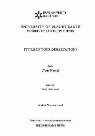 Sample Title Page Of Thesis Proposal