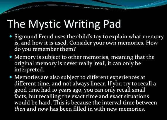Sigmund freud mystic writing pad own affair, like my Judaism