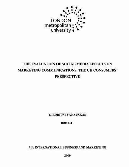 thesis about effects of social media