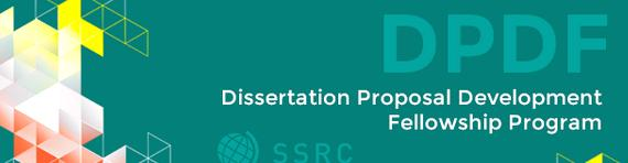 Social science research council dissertation proposal development fellowship fellowship research, with