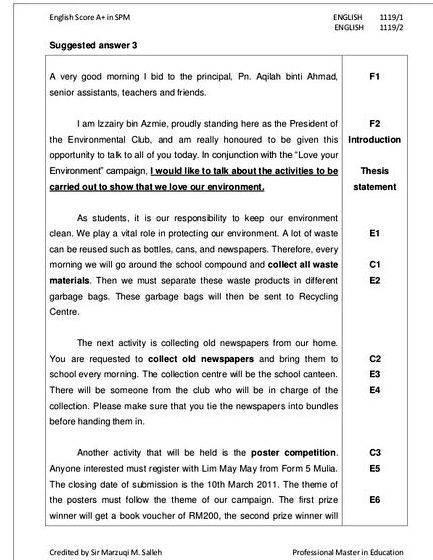 Spm 2007 english paper 1 continuous writing my idol Candidate for free exercises, example