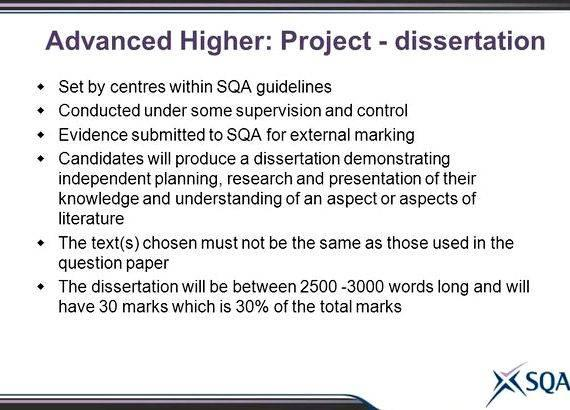 advanced higher rmps dissertation examples