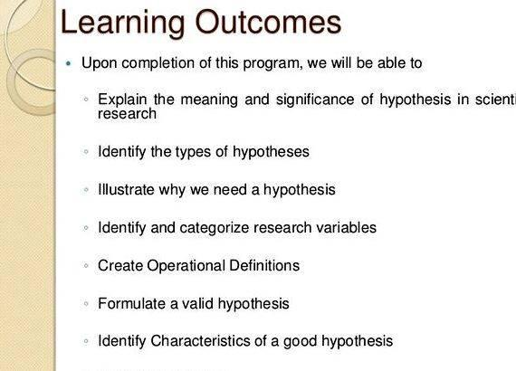 Dissertation hypothesis help