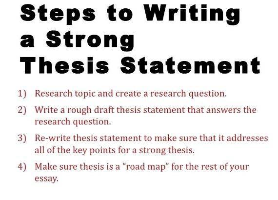 Steps to writing a thesis paper Good evidence supports your claim