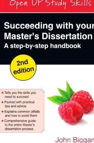 Succeeding your masters dissertation writing separate steps
