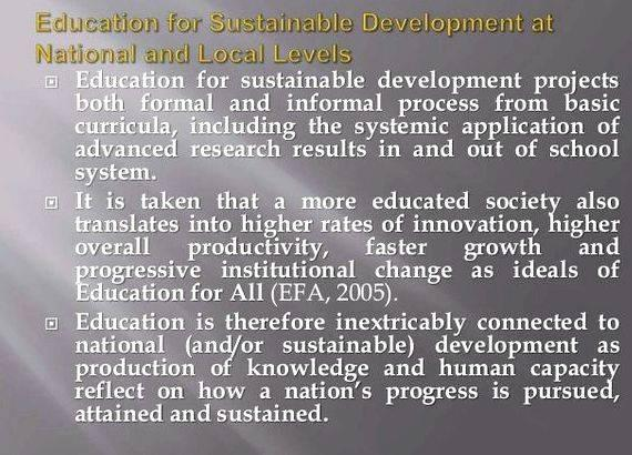 thesis education sustainable development 2017-10-3  this paper explores how three major factors in education for sustainable development (esd) practice view the concept of sustainable development (sd) these are (a) international policy documents which shaped esd, (b) the academic discourse in the field of esd and (c) students and teachers sd is a.