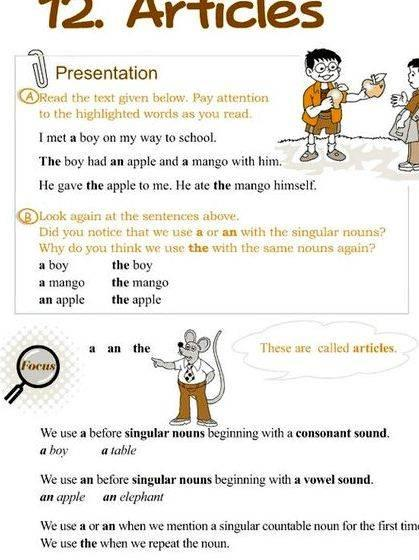 Teaching english using articles in writing students procedures