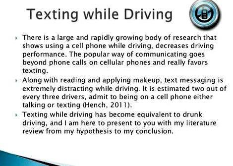 Texting and driving essay thesis writing Example on