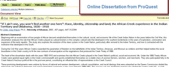 Proquest dissertations and theses online