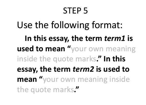 Thesis proposal definition of terms Provide some account of