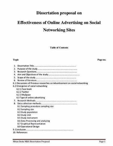 Sample proposal for thesis pdf