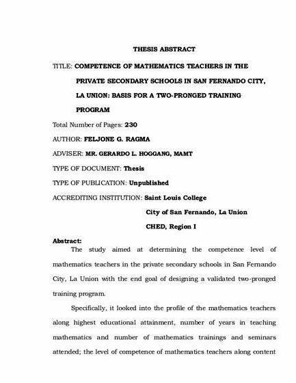 Thesis title proposal in mathematics to write