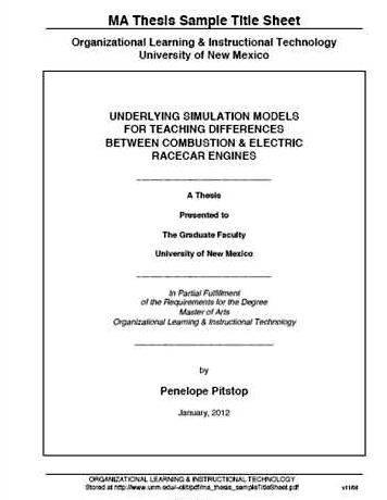 Master thesis applied mathematics