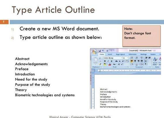Thesis writing in word 2007 the document and read it