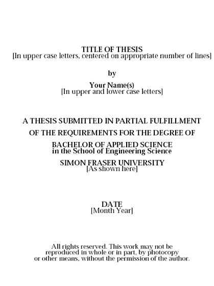 Master thesis library science