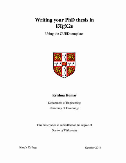 Cambridge phd thesis word limit