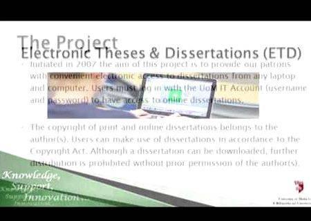 Dissertation uom
