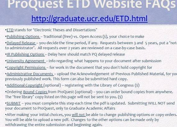 Dissertation publishing options