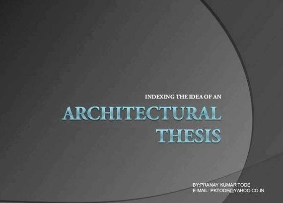 Urban design thesis synopsis writing Problems in Architectural Design