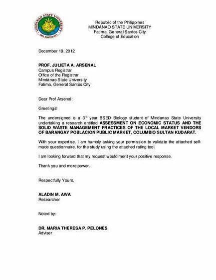 Validation letter sample thesis proposal no one else