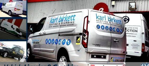 Van signwriting designs plumbing services Banners, Boards