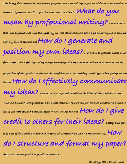 Voice and tone of doctoral writing resources these special