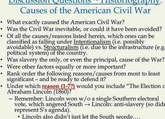 Was the civil war inevitable essays
