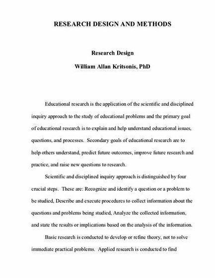 Dissertation research study