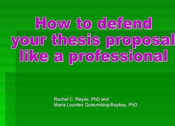 Buying a dissertation defense