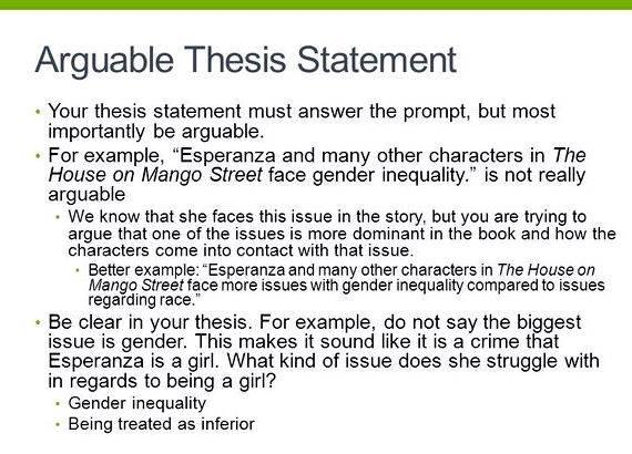 Help write a thesis statement for me