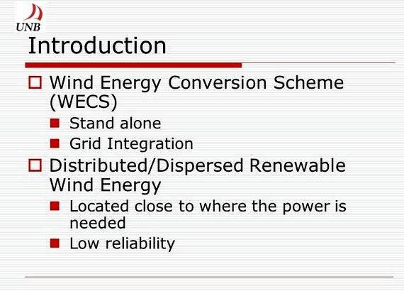 Wind energy conversion system thesis proposal and deep lifetime connections