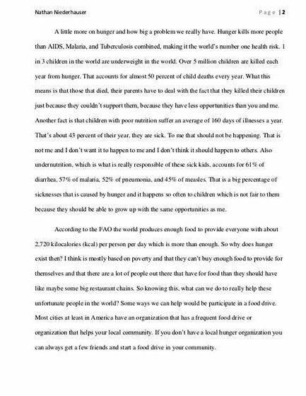 World hunger essay thesis writing